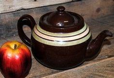 Vintage ALB Brown Betty Style Striped Tea Pot $15.00