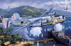 The Dragon and his Tail, by Stan Stokes (B-24 Liberator)