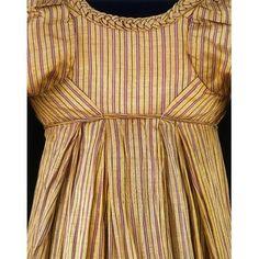 Dress- c. 1805- woven silk