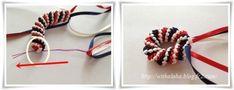 ハワイアンリボンレイ サークルウィーブの作り方 - アラフォーおばちゃんの憂さ晴らし Ribbon Lei, Ribbon Crafts, Graduation Leis, Fabric Manipulation, Blog Entry, Decorative Bowls, Bracelets, Projects, Log Projects