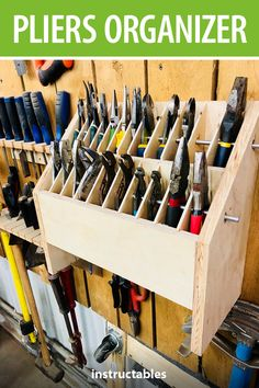 DIY garage storage for garden tools and DIY garage storage. Just build .DIY garage storage for garden tools and DIY garage storage. DIY garage storage for garden tools and DIY garage storage. Garage Workshop Organization, Garage Tool Storage, Workshop Storage, Garage Tools, Diy Storage, Storage Ideas, Workbench Organization, Wood Workshop, Wood Shop Organization