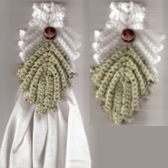 Venetian Leaf Crocheted Towel Topper: good way to practice Irish Crochet.......I don't usually like towel toppers but....