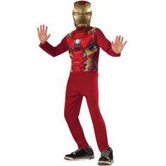 Avengers Iron Man Boys Jumpsuit Halloween Costume, Size: Small, Multicolor