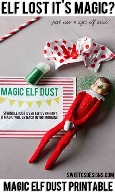Did your elf on a shelf accidentally lose it's magic? Quickly restore it's magic and calm your kids with this Elf Magic Dust Printable and some glitter!
