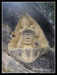 ''Krishna'', una de la esculturas de la Ruta de las Caras.