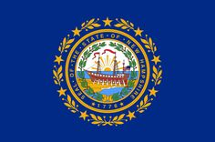"Illustration of the state flag of New Hampshire. Source: Wikimedia Commons. Read more on the GenealogyBank blog: ""New Hampshire Archives: 75 Newspapers for Genealogy Research."" http://blog.genealogybank.com/new-hampshire-archives-75-newspapers-for-genealogy-research.html"