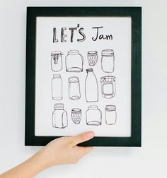 kitchen jam puns drawings simple line quirky decor wall jammy funny things subjects myself draw could frame humor chalk advice