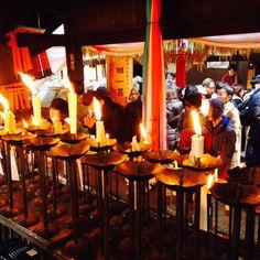 Tempio a Kyoto e l'accensione del Fuoco sacro🔥per celebrare il nuovo anno 2018
