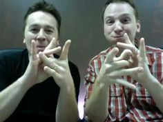 CODA Brothers.. These two are hilarious! Simply amazing. My ASL is growing everyday! Motivational. Too cool!