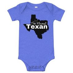 Newest Texan Baby Bodysuit Heather White, Columbia Blue, Blue Yellow, Purple, Texans, Baby Bodysuit, One Piece, Taco Tuesday, Baby Care