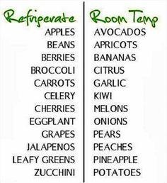 Cold vs room temp