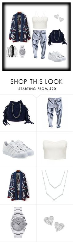 """""""shopping day !!"""" by amasha-96 ❤ liked on Polyvore featuring adidas Originals, Forever New, Relaxfeel, Rolex, Vivienne Westwood and Avenue"""