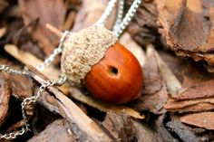 Peter Pan Kiss Acorn Necklace by MelanieMermaid on Etsy