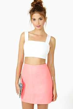 Spell Cast Crop Tank in White by  NastyGal Crop Top Outfits f479b99b704