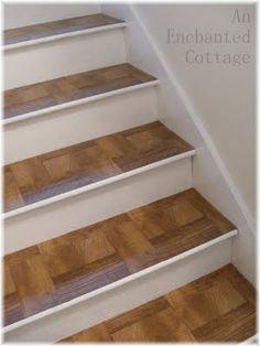 inexpensive peel & stick floor tiles....