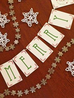 Winter Berry Paper Garland Party Banner  CHOOSE WORDING by Earmark, $ 14.50
