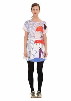Moomin T-shirt Rain – IvanaHelsinki Web Shop Crazy Outfits, Moomin, Helsinki, Shirt Dress, T Shirt, Style Me, Womens Fashion, How To Wear, Clothes