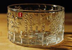 Iittala Finland Flora bowl 10cm, clear