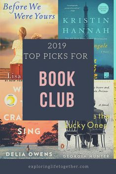 Great picks for your next book club or Summer read. Best s… 2019 BOOK CLUB READS. Great picks for your next book club or Summer read. Exploring life Together Best Books To Read, I Love Books, My Books, Great Books, Good Book Club Books, Best Books To Gift, Best Books Of All Time, Must Read Novels, Teen Books