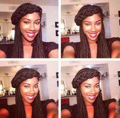 Creative style with box braids - @naturally_candace - www.blackhairinfo...