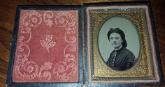 Antique Civil War Era Tintype Portrait of A Woman 9th Plate in Case FREE US S/H