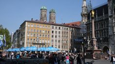 Marienplatz in Munich - this is the focus of the city, where festivals and parades take place and home to the Christmas Market