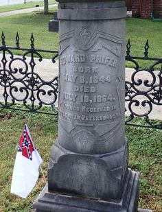 Two brothers,  Edward Phifer and William Phifer,  killed during the war in separate battles.   They are buried together at St Luke's  episcopal church in Lincolnton, NC.