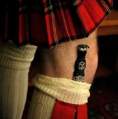 Highland Dress- the Sgian Dubh, if withdrawn from its scabbard, it must draw blood...