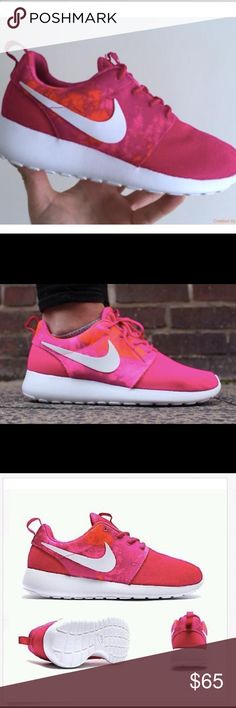 NIKE Roshe Run Fireberry Pink. NWOT. Size 9. NIKE Roshe Run Fireberry Pink. NWOT. Size 9. Love but need a smaller size. Never been worn!! No box. Nike Shoes