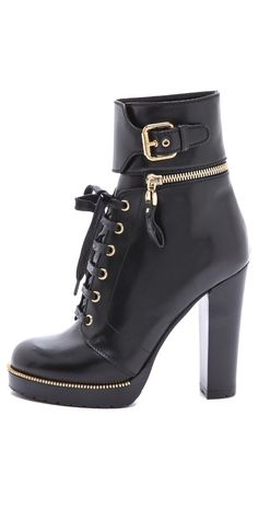 7a242824f Leather and Rubber Heeled Booties. Strappy HeelsAnkle HeelsWomen s HeelsShoes  SandalsSergio ...