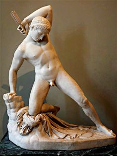 "hadrian6: ""The Wounded Niobe. 1822. James Pradier. French 1790-1852. marble. Louvre Paris. http://hadrian6.tumblr.com """