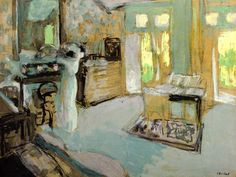 Lucie Hessel Putting on Her Hat-1909 by Edouard Vuillard
