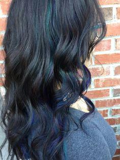 Oil Slick Hair by Jess Wood at Beyond the Fringe in Hillsborough NJ