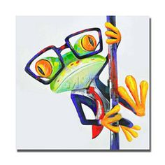 2016 Frog Paint OIL PAINTING MODERN ABSTRACT WALL DECOR ART CANVAS (Unframed) Abstract frog 24x24inch-z05