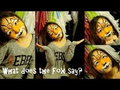 YLVIS - THE FOX - What does the fox say face painting fox tutorial with Google Glass - YouTube