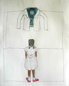 Mixed media drawing - Janet Taylor Pickett