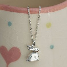 silver bunny....£59 would love this for Miss Pink