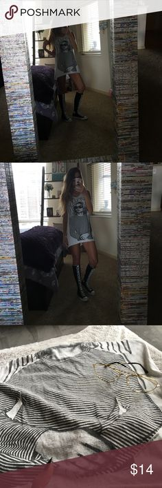 Vintage Kurt Cobain tunic/tank I 👀 high and low for a gem like this! Super cool and a hard find! Turns out, I bought the only two that were on PM, The first seller shipped my size last minute 😒 Meanwhile I purchased this because I was unsure if the first was coming! It's a size 6. It can fit any size up to a L depending on the look you're going for! I won't ask for the price I paid. There's a tiny snag not noticeable and some fading in areas. The shirt is still in tact🌟 Who wouldn't wanna…