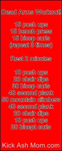 Dead Arms Workout! I did this! It's killer!