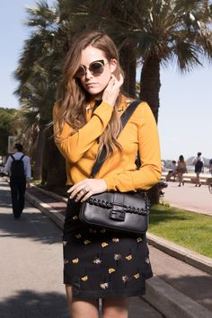 Actress Riley Keough spotted in a Cannes-perfect Fendi outfit matched with a pair of Fendi EyeShine sunglasses. fendi.com