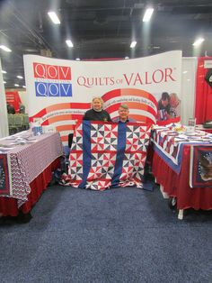 Quilts of Valor - Army Aviation Conference -- they make quilts for Veterans.  The white portion of the quilts have messages written by people to the Veterans.