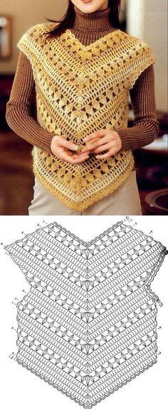 Fabulous Crochet a Little Black Crochet Dress Ideas. Georgeous Crochet a Little Black Crochet Dress Ideas. Black Crochet Dress, Crochet Blouse, Crochet Shawl, Knit Crochet, Crochet Waistcoat, Crochet Jacket, Crochet Tops, Pull Crochet, Crochet Poncho Patterns