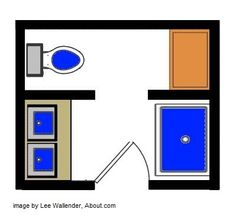 small bathroom floor plans. 5x8. could get more narrow with a