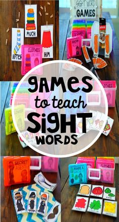 Sight Word Games with a FREEBIE! Free Sight Word Game Included! | #TeacherTips #SightWords #SightWordsGame #GamesForTheClassroom #TpT