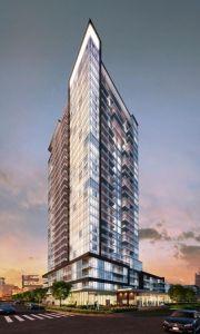 The Academy, Lemine Investment Group, Devron Developments Toronto Houses, Toronto Condo, Building Exterior, Building Front, Building Architecture, Mix Use Building, Investment Group, New Condo, Commercial Architecture
