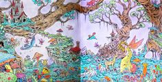 Kerby Rosanes - Mythomorphia Fantastical Forest Coloured with Polychromos,