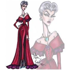 The villainess collection by hayden williams: lady tremaine # disney Hayden Williams, Disney Princess Fashion, Disney Style, Arte Fashion, Paper Fashion, Disney Divas, Illustration Mode, Fashion Design Sketches, Disney Fashion Sketches