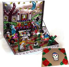 Tin Day of the Dead Altar