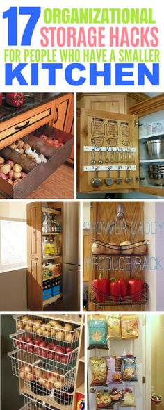 These 17 Kitchen Storage Hacks Will Organize Even Small Sized Kitchen With Hidden Pantries And Baskets! These 17 Kitchen Storage Hacks Will Organize Even Small Sized Kitchen With Hidden Pantries And Baskets! Kitchen Storage Hacks, Small Kitchen Organization, Diy Storage, Kitchen Tips, Kitchen Ideas, Storage Ideas, Small Storage, Kitchen Pantry, Organization Ideas