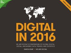 Digital in 2016 #digital